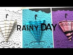 Try this cute umbrella craft with young children in a water cycle unit. New Year's Crafts, Crafts To Make, Design Set, Iphone Plus, Classe D'art, Cute Umbrellas, Umbrella Art, Alphabet Crafts, Art Curriculum