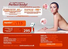Anti wrinkle injections, Aqualyx and other aesthetic promotions for August 2015