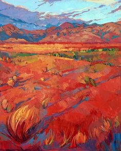 Desert Rainbow Triptych - Center Panel Painting