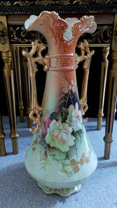 Gorgeous Floral Amphora Vase