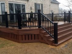 black and brown deck