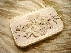 ~ The Feathered Nest ~: Altered mint tin.  pin box?