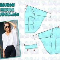 ok şık bır model #dikiş #kalıp #bluz #pattern #sewin