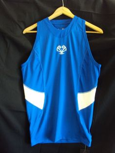 MENS BLUE FITTED COUPE AJUSTEE UNDER ARMOUR COMPRESSION HEAT GEAR SHIRT - Medium #UnderArmour #ShirtsTops