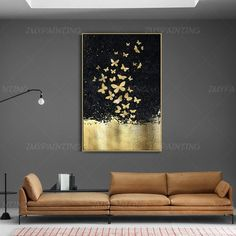 Abstract butterfly GoldLeaf Painting print On Canvas ready to hang  framed painting print art Wall A Oil Painting Tips, Oil Painting Pictures, Wall Art Pictures, Painting Frames, Pictures To Paint, Painting Prints, Art Prints, Watercolor Paintings, Canvas Prints