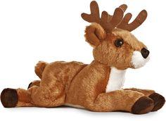 Deer (Antlers) Mini Flopsies Stuffed Animal by Aurora World