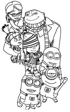 image a colorier moi moche et mechant Activités Minions (coloriage, printable, paperptoys, bricolage, ...) #minions #moimocheetmechant #despicableme http://www.papa-blogueur.fr/occuper-les-enfants-pendant-les-vacances-semaine-1-les-minions
