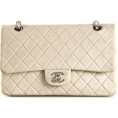 Chanel Vintage medium '2.55' shoulder bag ($4,925) ❤ liked on Polyvore featuring bags, handbags, shoulder bags, grey, vintage purses, gray handbags, quilted chain shoulder bag, quilted handbags and chanel handbags