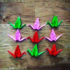 InstaOrbit 2016. Day 53 (22Feb2016) 9 Cranes. Possibilities. Follow the flock! #InstagramOrbit #2016 #followtheflock #origami #1000 #100 #fizzle #awesome #birdsofinstagram #what #seen #possibilities #endless