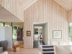Traverse city builders Scandinavian Living Room through Michael Perlmutter Architectural Photography