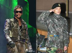 10 Korean idol military looks: On stage vs. on active duty