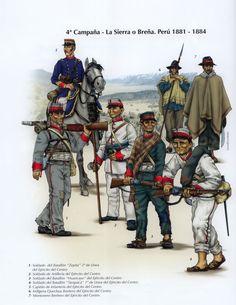 RAZONYFUERZA - Uniformes de la guerra del pacifico - La Guerra del Pacífico