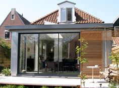 Aanbouw woning Edam - AWF Aannemersbedrijf West-Friesland B.V. Extension Designs, Glass Extension, House Extensions, Home Reno, Home Projects, Digital Camera, Landscape Design, Terrace, Sweet Home