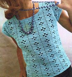 Ladies Summer Sweater, Crochet Pattern.  To Fit Bust Size: 34 - 38.  4 Ply Yarn.  Crochet Hook Size: 8 mm.  This is a PDF file ONLY of the original pattern book. NOT THE ORIGINAL PATTERN BOOK, COPY ONLY  This is NOT THE FINISHED ITEM!  **No refund for Digital Downloads**  Instant