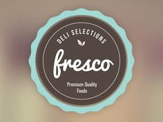 Frescoo designed by Sean Jones. Dessert Logo, Logo Cookies, Logo Doce, Gelato, Small Restaurant Design, Seal Logo, Dessert Boxes, Bakery Packaging, Bakery Logo Design