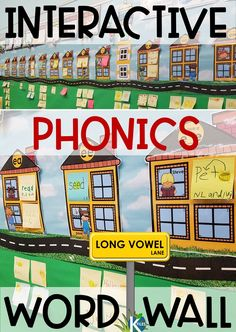 A True Interactive Phonics Word Wall - The K Files Phonics Rules, Phonics Lessons, Phonics Words, Jolly Phonics, Phonics Worksheets, Phonics Chart, Phonics Flashcards, Printable Worksheets, Free Printables