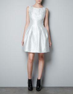SILVER VOLUMINOUS DRESS - Dresses - Woman - ZARA United Kingdom