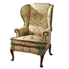 century mahogany and beech fine George II period Wing Chair Wingback Armchair, Chair Upholstery, Upholstered Furniture, Winged Armchair, Georgian Furniture, Armchairs For Sale, Antique Sideboard, Rococo Style, Wing Chair