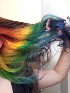 Rainbow underneath, i really want this, but in tips