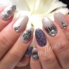 【Gray Pearl × Metallic♡】  A様♡ありがとうございました✨  #和装にもGoodなデザイン✨ #Nail #NailArt #NailDesign #箕面 #北摂 #NailSalon #Mfleurs #NailArtist #Mayu  #Metallic #Gray #GrayPearl #Black #Bijou #BijouNail #네일아트 #네일 #美甲 #美甲師