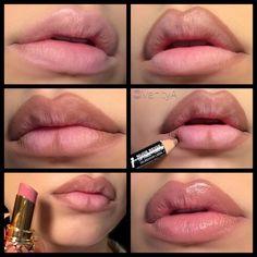 tutorial, diy, and lips Bild Flawless Makeup, Lip Makeup, Makeup Tips, Beauty Tips For Over 50, Asian Makeup Trends, Lip Tutorial, Vogue Beauty, Lip Contouring, Facial