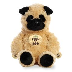 The Peek A Boo Playing Pug Stuffed Animal by Aurora is definitely something you don't see every day! How many pugs do you know that play peek a boo? Raining Cats And Dogs, Build A Bear, Peek A Boos, Pugs, Aurora, Dog Cat, Teddy Bear, Puppies, Safari
