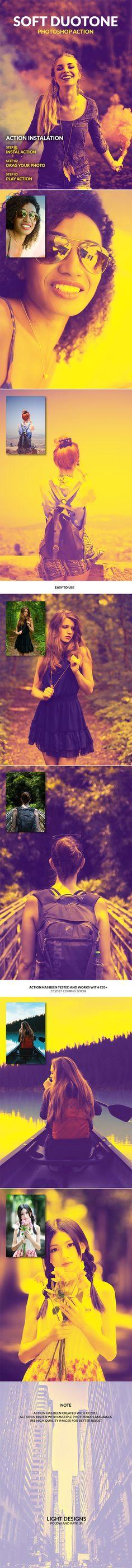 Soft Duotone — Photoshop ATN #matte #vintage • Download ➝ https://graphicriver.net/item/soft-duotone-photoshop-action/19745970?ref=pxcr