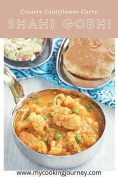 Creamy and delicious Cauliflower curry to serve with roti or rice.