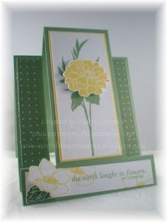 ARTfelt Impressions: Fabulous Florets Center Step Card - use the instructions within the snowman post from Connie Babbert