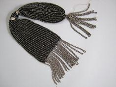 Antique 1860s miser purse - victorian