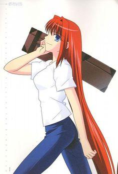 Tags: Anime, TYPE-MOON, Takeuchi Takashi, Aozaki Aoko, Official Art