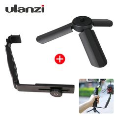 Sale Today $10.96, Buy Ulanzi Mini Tripod+L Bracket Stand With 2 Hot Shoe for Zhiyun Smooth Q Stabilizer/Feiyu Gimbal/BY-MM1 Microphone/Video Light