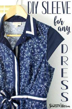 Add a Sleeve to Any Sleeveless Dress