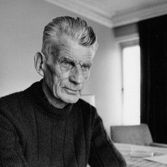 Samuel Beckett in room 604 of The Hyde Park Hotel, London 1980 (JPEG-afbeelding, pixels) - Geschaald Samuel Beckett, University Of Reading, Stream Of Consciousness, Face Reference, Writers Write, London Hotels, William Shakespeare, Face Art, Books To Read