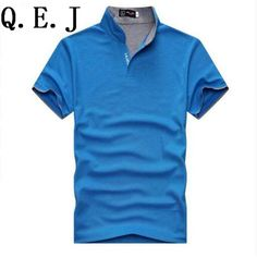f961e68827914 Q.E.J New 2016 Brand Solid Stand collar polo Shirt Casual Men Summer Short  sleeve Camisa Polo Slim Fit Men Shirt-in Polo from Men s Clothing    Accessories ...