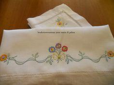 Broderiemonamour di ANNA MARIA DI PALMA: lenzuolino a punto ombra per nonna Katerina
