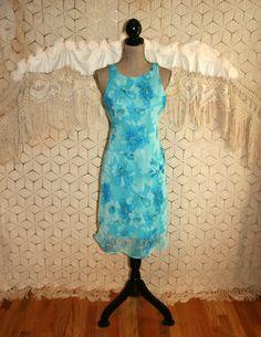 Sexy Dress Romantic Blue Floral Dress Chiffon by MagpieandOtis