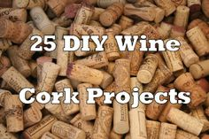 DIY wine cork projects! There are so many things to do with wine corks. Here are just a few #diy #projects you can do!