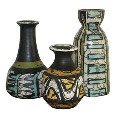Three Vases by Livia Gorka Ceramic Pottery, Pottery Art, Vintage Art, Vintage Shops, Vases For Sale, Pottery Designs, Vintage Pottery, Kitsch, Mid Century