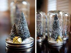 Anthro Mason Jars - Christmas Trees DIY