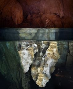 Above and Below water in Cave