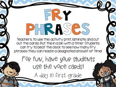 fry phrases .pdf For fluency practice- after sight words. And it's a free download!