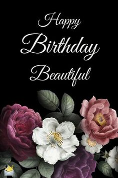 Happy Birthday Beautiful Message for Her A happy birthday meme for a beautiful lady. The post Happy Birthday Beautiful Message for Her & Birthdays appeared first on Happy birthday . Free Happy Birthday, Happy Birthday Greetings Friends, Happy Birthday Black, Beautiful Birthday Wishes, Birthday Wishes Flowers, Birthday Wishes And Images, Happy Birthday Celebration, Birthday Wishes Messages, Birthday Blessings