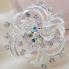 Beautiful+Alloy+And+Rhinestone+Brooches+–+USD+$+3.99