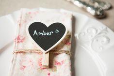 Mini Heart Chalkboard Peg - New to Wedding in a Teacup!