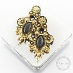 Pendientes colgantes - Rich brown soutache - hecho a mano por Kavrila en DaWanda