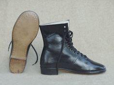 Civil War Sutler Blockade Runner's Ladies Boots Traveling Boots 1860's Civil War Era. 12-17-09 for $79.95