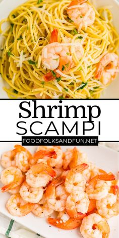 Classic Shrimp Scampi Pasta is an easy Italian comfort food recipe! It's made with butter, garlic, white wine, chicken stock, lemon juice, parsley, and shrimp. For more easy dinner recipes follow Food Folks and Fun!