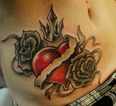 Herz tattoo heart tattoos tattoos татуировки и тату. Heart Tattoos With Names, Red Heart Tattoos, Name Tattoos, Tattoos With Meaning, Trendy Tattoos, Popular Tattoos, Tattoos For Guys, Tattoos For Women, Design Tattoo