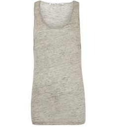 Acne Grey Zaar Linen Vest Top $102.71